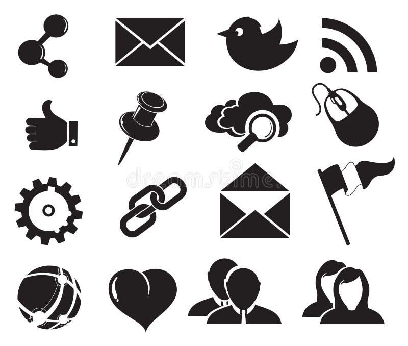 Iconos sociales de la red libre illustration
