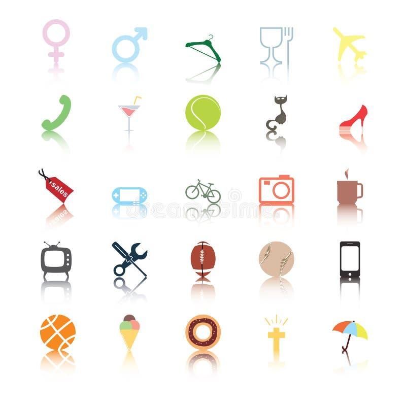 Iconos Sociales. Intereses De La Gente. Imagenes de archivo