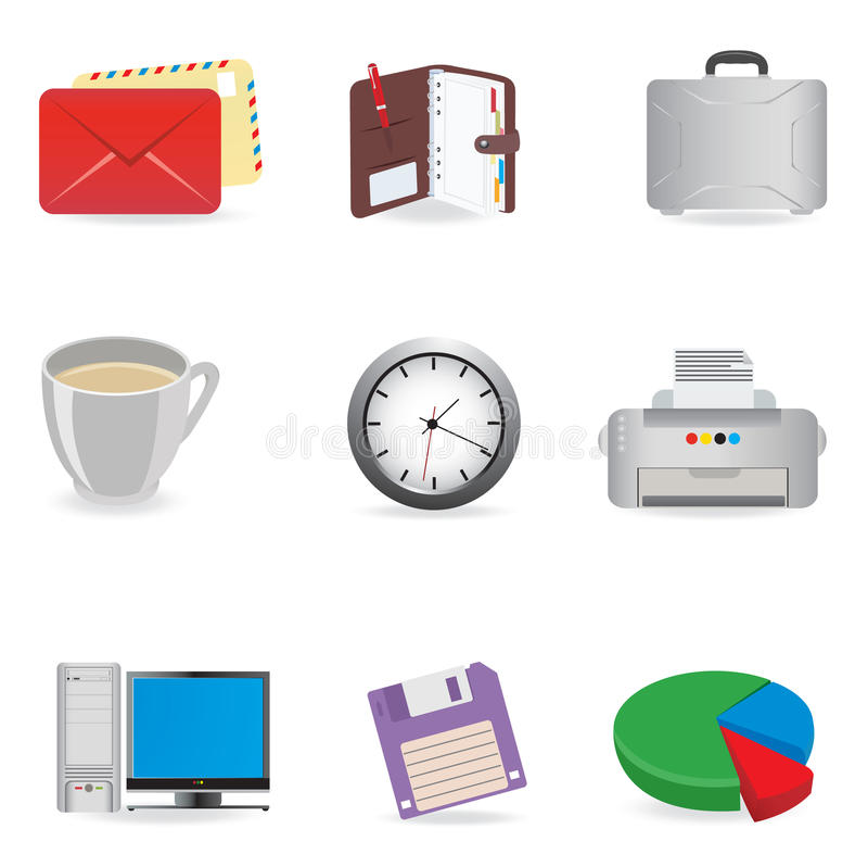 Iconos universales stock de ilustración