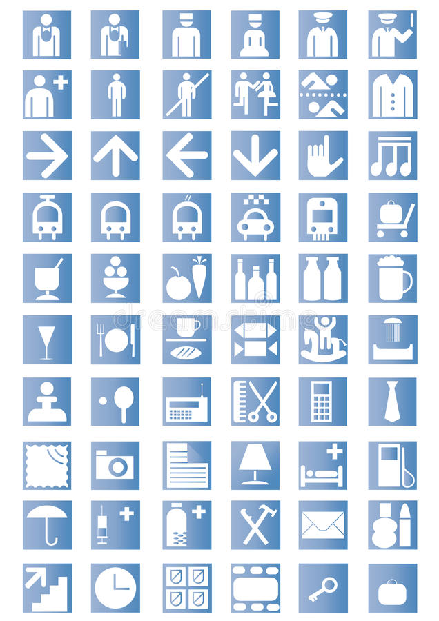 Iconos universales del esquema libre illustration