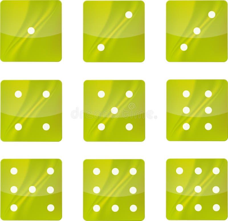 Iconos verdes ilustración del vector