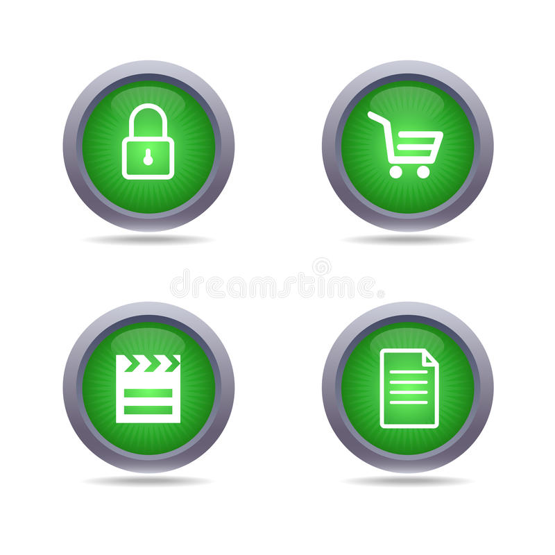 Download Iconos verdes ilustración del vector. Ilustración de conjunto - 42437901