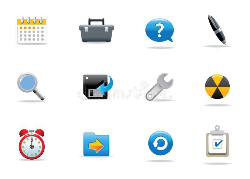 Iconos y botones ilustración del vector
