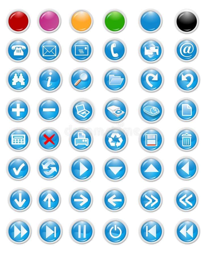 Iconos y botones libre illustration