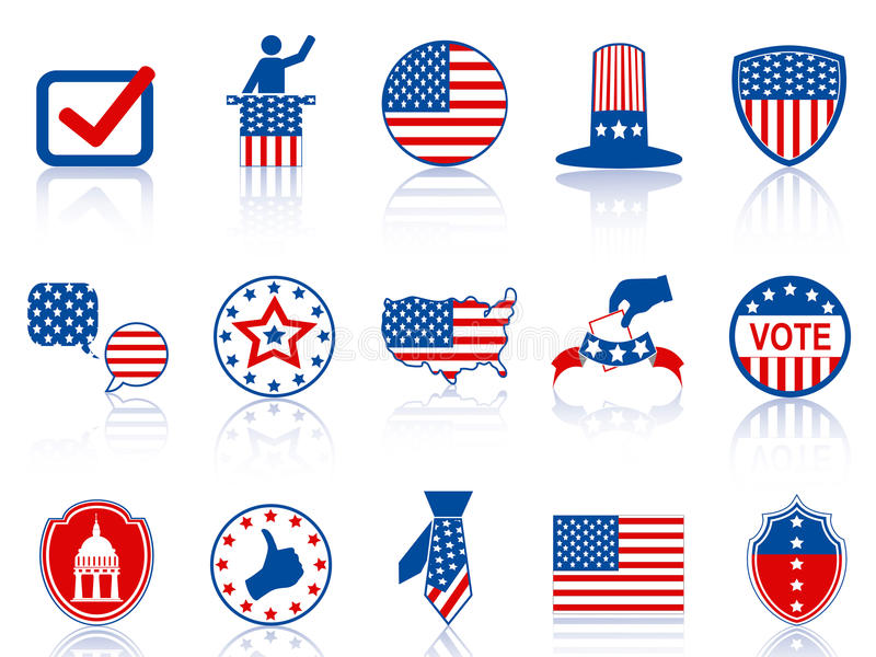Iconos y botones de la elección ilustración del vector