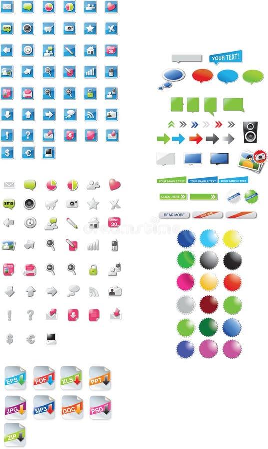 Iconos y gráficos stock de ilustración