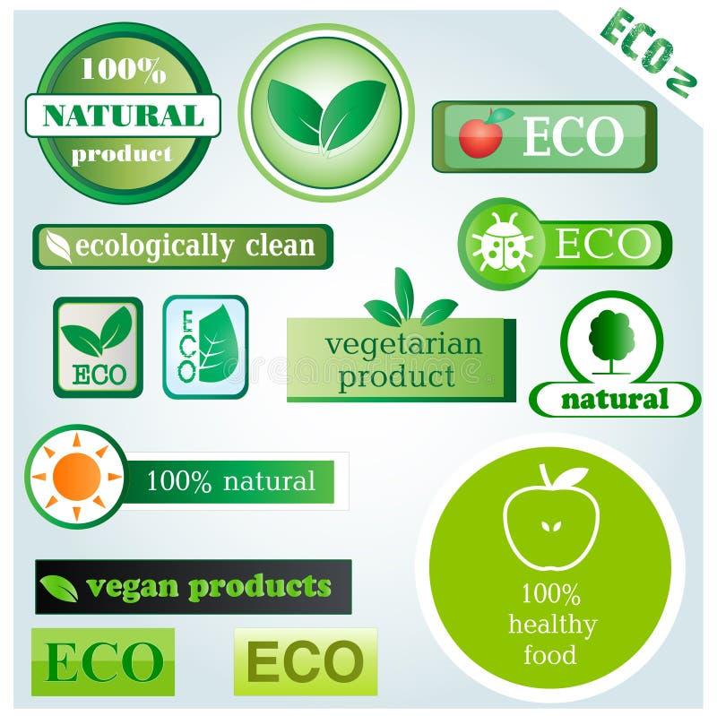 Iconos y muestras del vector de Eco imágenes de archivo libres de regalías
