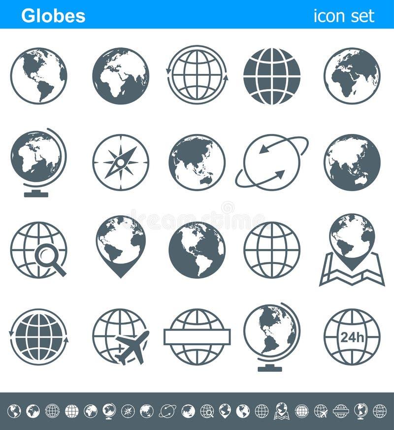 Iconos y símbolos - ejemplo de los globos ilustración del vector