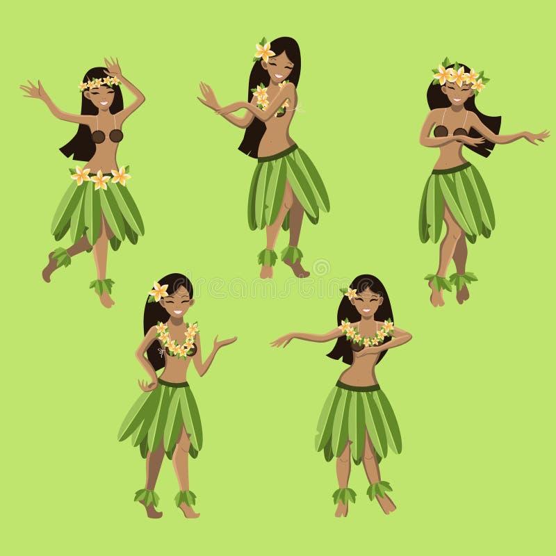 Iconos y símbolos hawaianos libre illustration