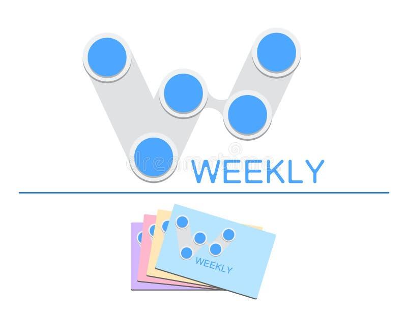 iconos y vector W-semanales del logotipo libre illustration