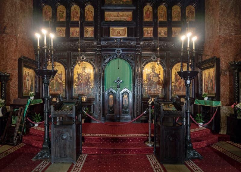 Iconostasi della cattedrale di incoronazione, Alba Iulia, Romania immagini stock