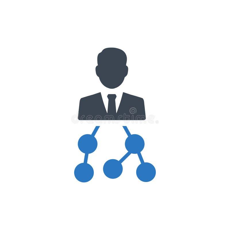 IconPrint för affärshierarkistruktur royaltyfri illustrationer