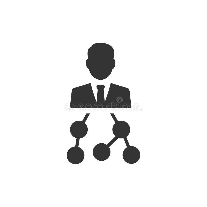 IconPrint f?r aff?rshierarkistruktur royaltyfri illustrationer
