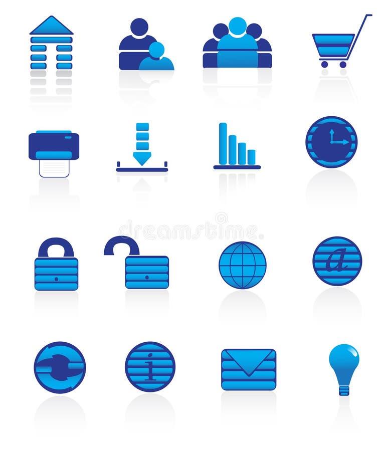 Icons. Website & Internet icons. Vector illustration royalty free illustration