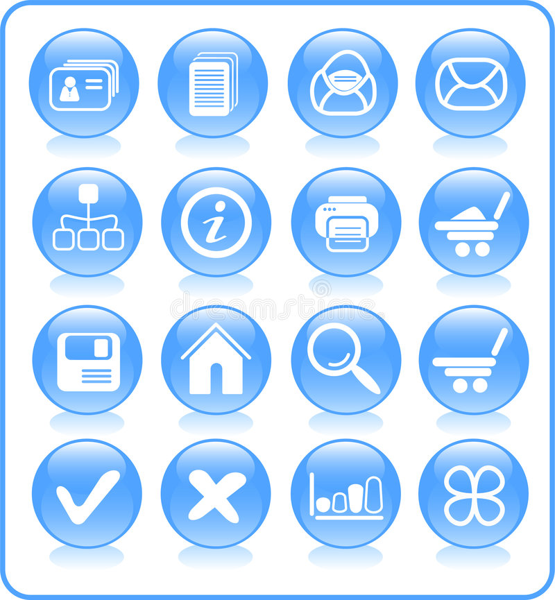 Icons. Miscellaneous raster web icons. Vector version is available in my portfolio stock illustration