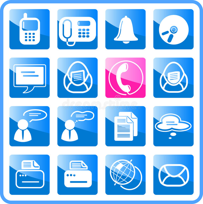 Download Icons stock vector. Image of design, globe, message, connection - 2321627