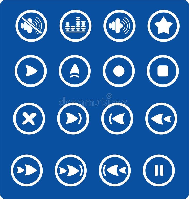 Download Icons stock vector. Image of forward, backward, close - 2321785