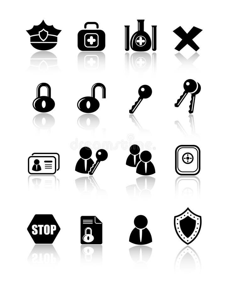 Icons royalty free illustration