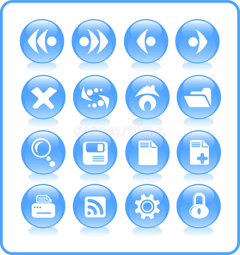 Icons. Browser raster icons. Vector version is available in my portfolio vector illustration