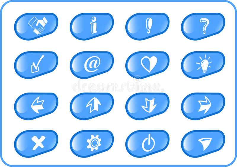 Download Icons stock vector. Image of illustration, info, bulb - 2322562