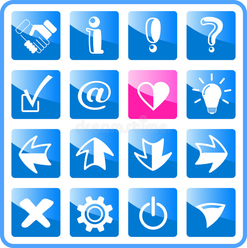 Download Icons stock vector. Illustration of heart, button, computer - 2322574