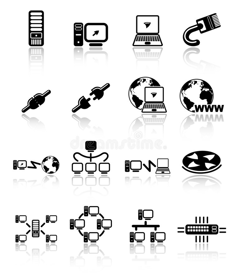 Icons. Network raster iconset. Vector version is available in my portfolio stock illustration
