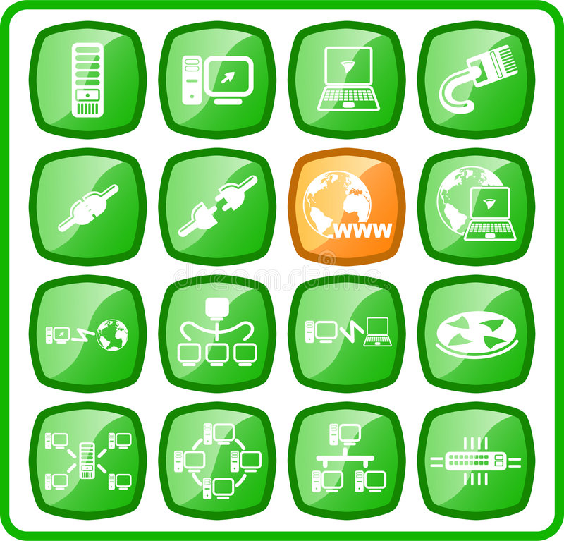 Download Icons stock vector. Image of mainframe, client, ring, notebook - 2323954