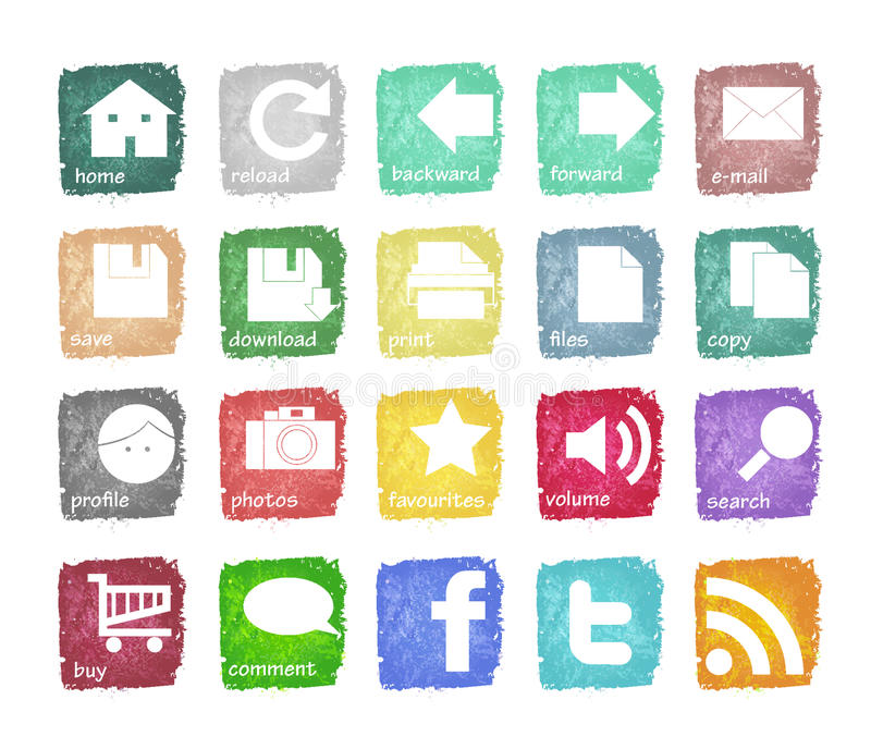 Download Icons stock vector. Image of icons, edit, mail, graphic - 24404107