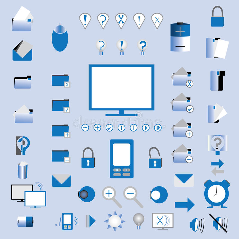 Download Icons stock vector. Image of globe, internet, mobile - 24757181