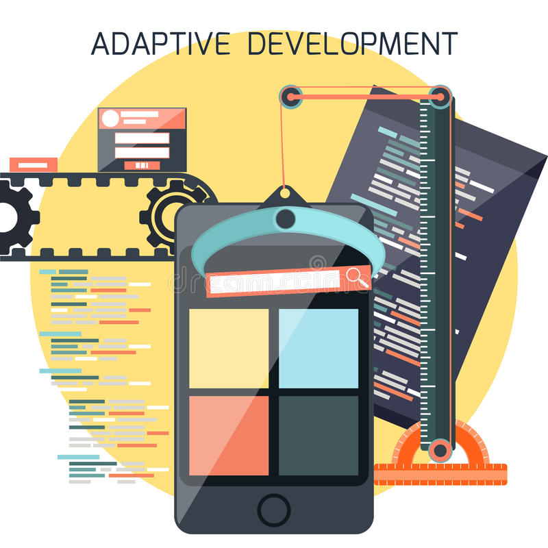 Icons for adaptive development royalty free illustration