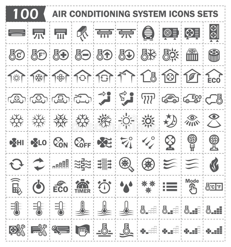 Icons stock illustration