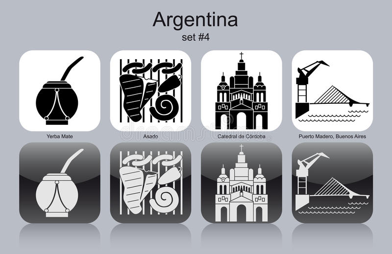 Icons of Argentina vector illustration