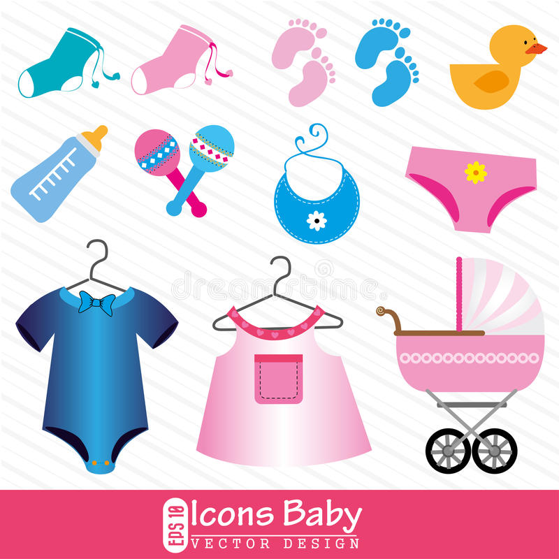Icons baby vector illustration