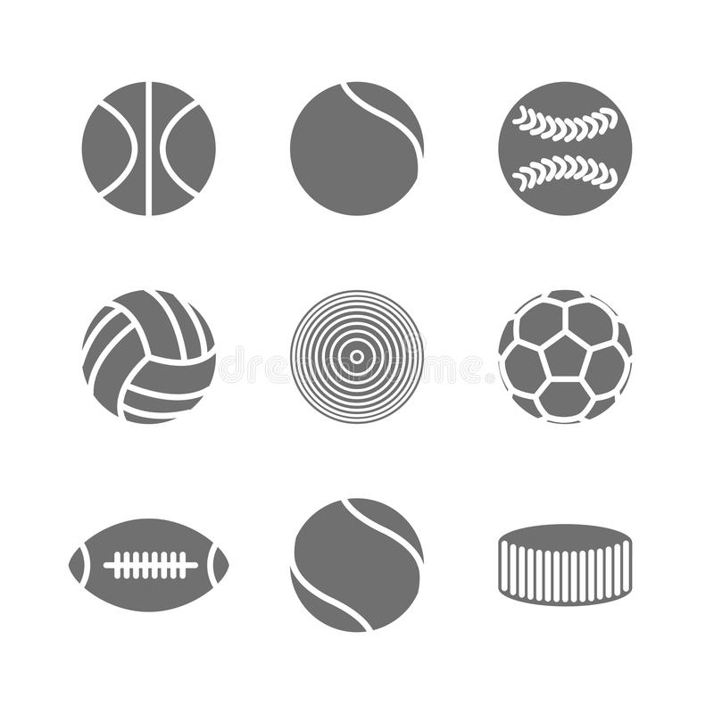 Icons balls, vector illustration. royalty free illustration