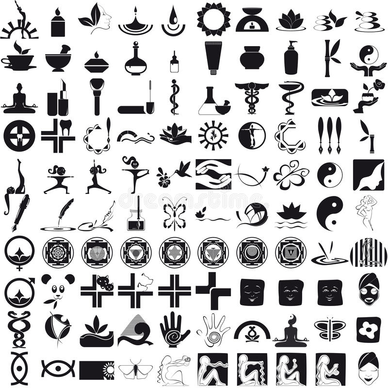 Download Icons Black On White Background Stock Vector - Image: 32249858