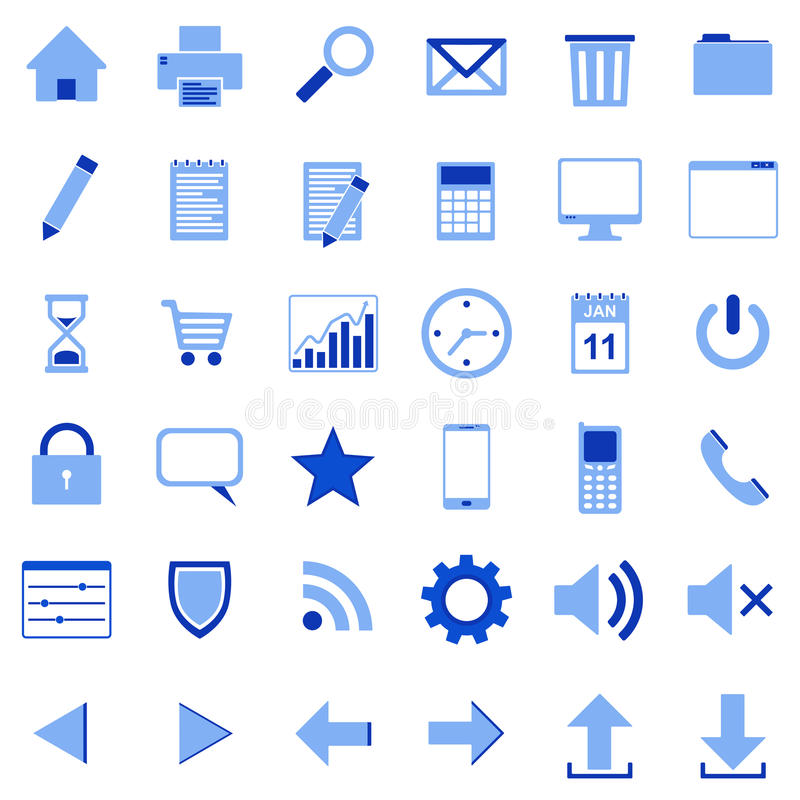 36 icons blue