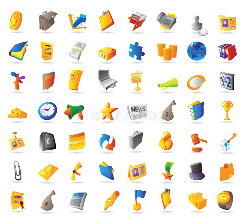 Download Icons for business stock vector. Illustration of finance - 21759827