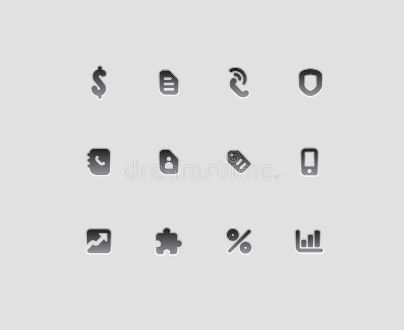 Download Icons for business stock vector. Image of design, buttons - 21789635