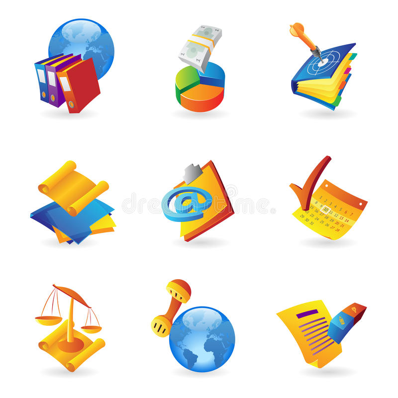 Download Icons For Business And Finance Stock Vector - Image: 26434303