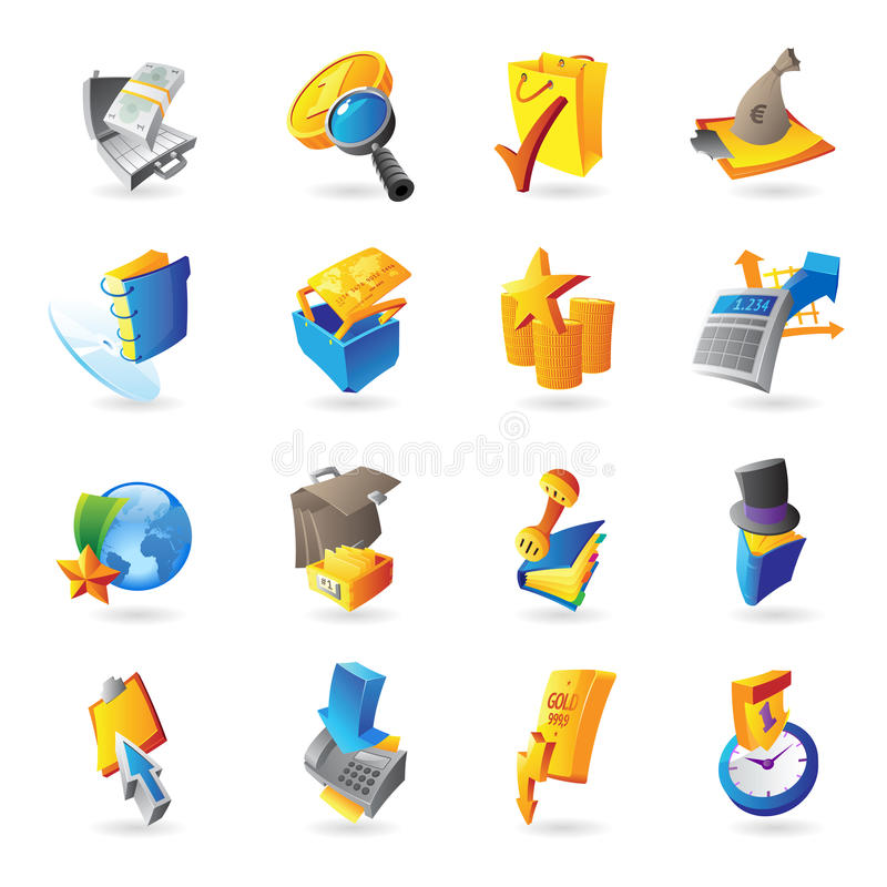 Download Icons For Business And Finance Stock Vector - Image: 26684325