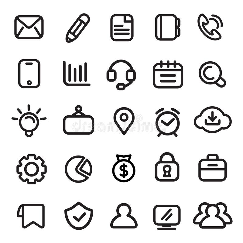 Icons, Business, Modern, Design Elements Stock Vector - Illustration ...