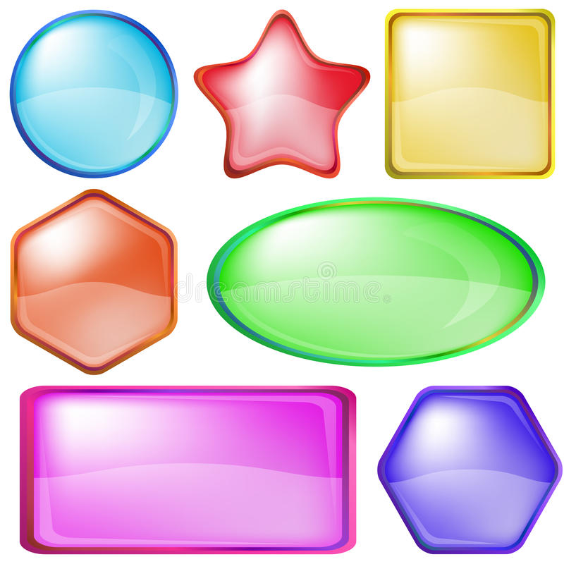 Download Icons buttons, set stock vector. Image of glass, icon - 18250088