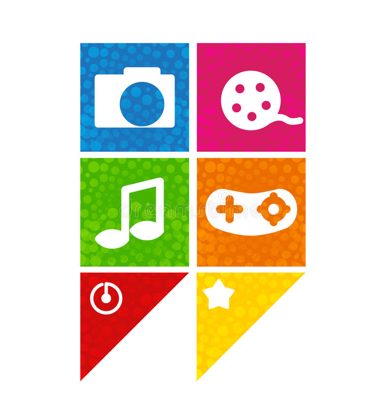 Download Icons stock vector. Image of mobile, phone, button, internet - 31752283