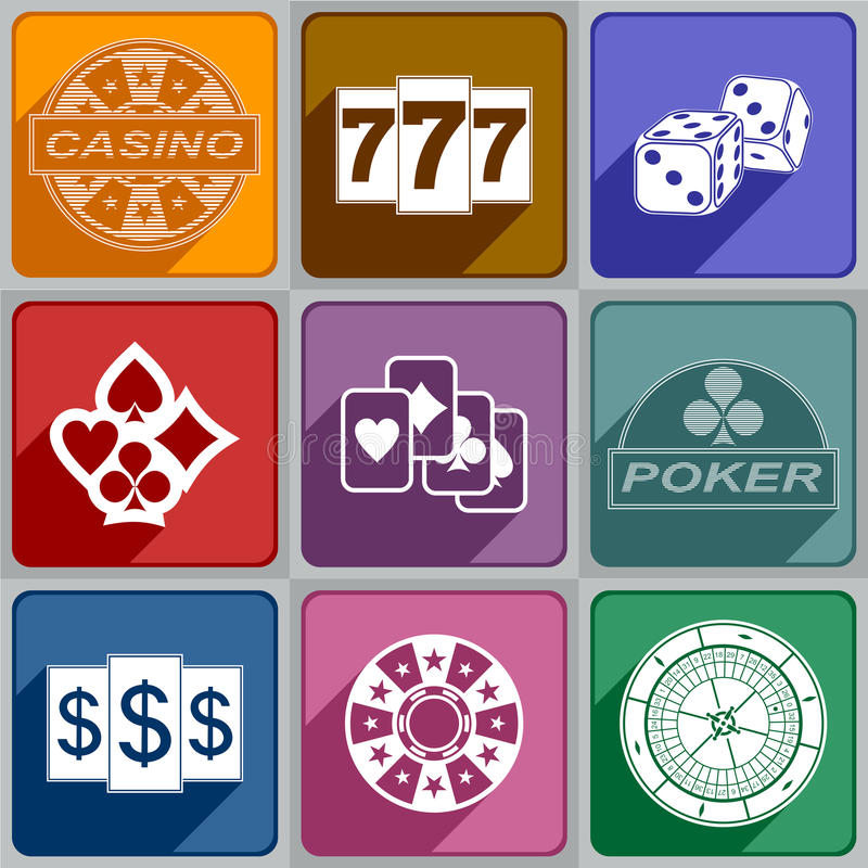 Icons Casino vector illustration