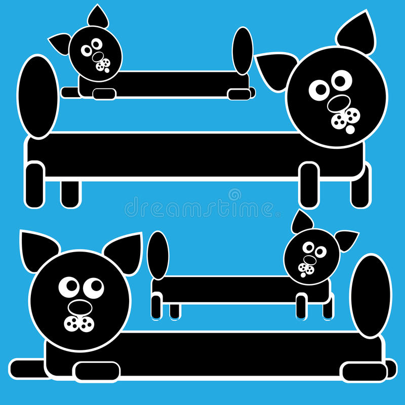 Download Icons Cats Isolated On A Blue Stock Vector - Image: 37423896