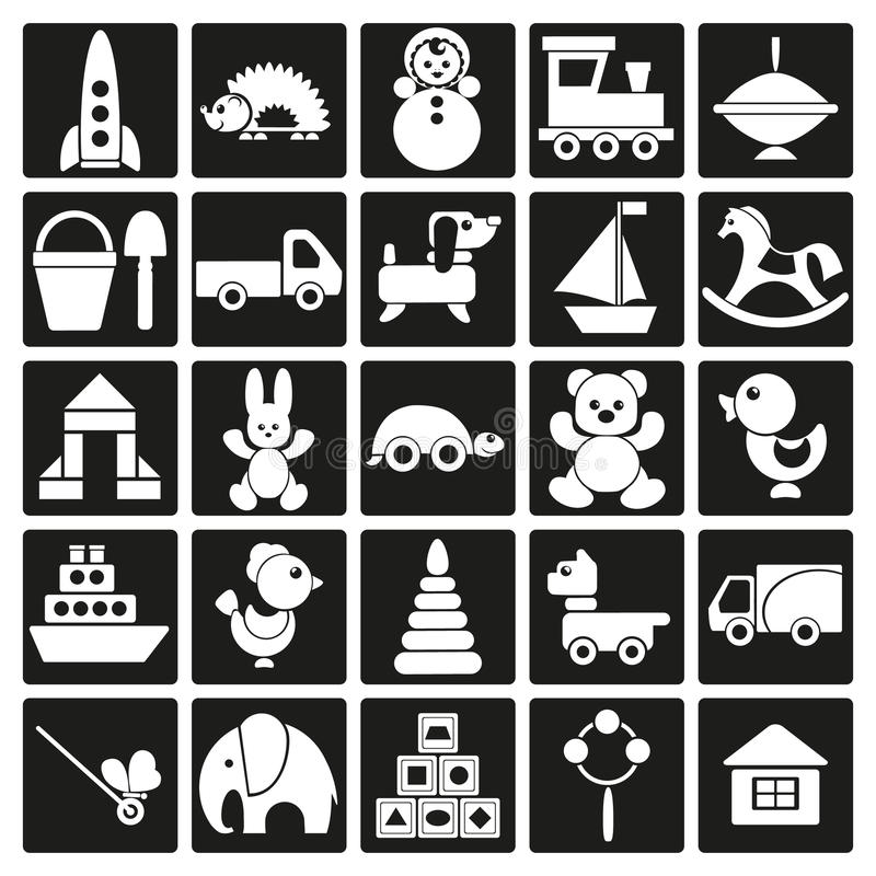Icons of children's toys vector illustration