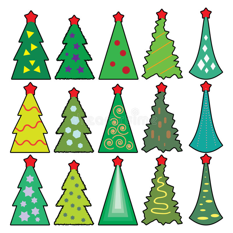 Download Icons Of Christmas Toys, Dressed Christmas Tree Stock Vector - Illustration: 35230793