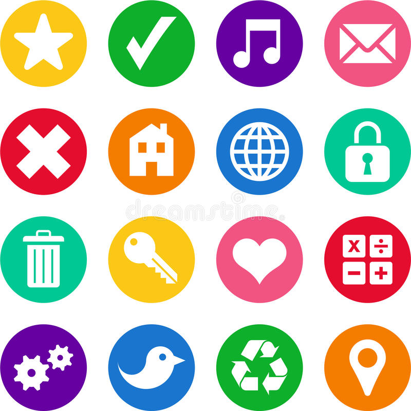 Icons In Circles Royalty Free Stock Image