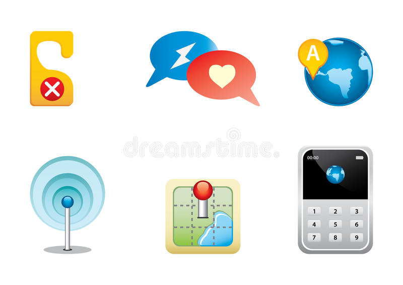 Icons color set 8 royalty free illustration