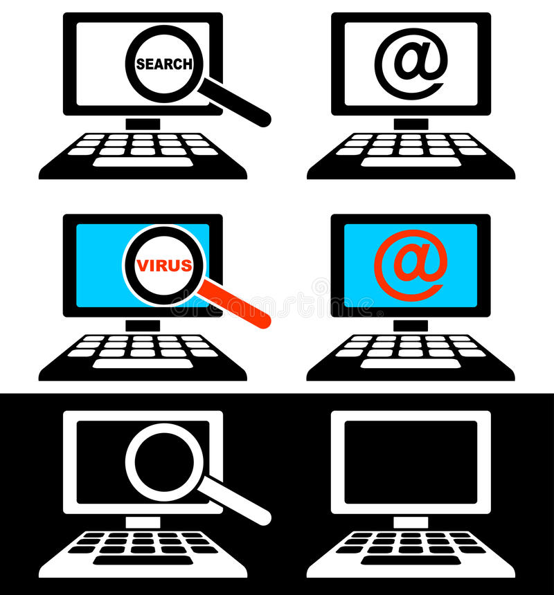 Download Icons of computer monitors stock vector. Illustration of computer - 26771508
